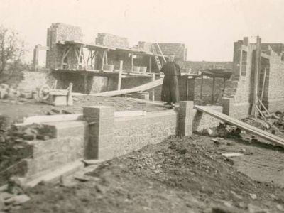 1936 - Construction de l'aile de la chapelle