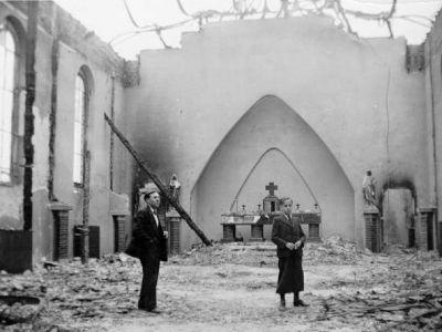 1938 - La chapelle après l'incendie