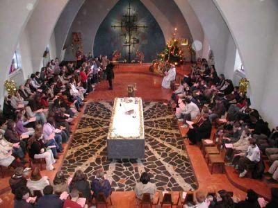 La chapelle: célébration de Noël