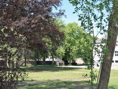 L'espace vert côté village